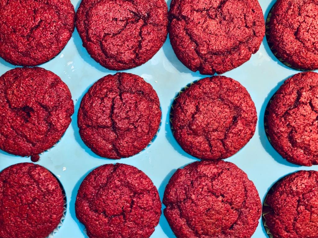Red Velvet Keto Cupcakes, Low-carb cupcakes