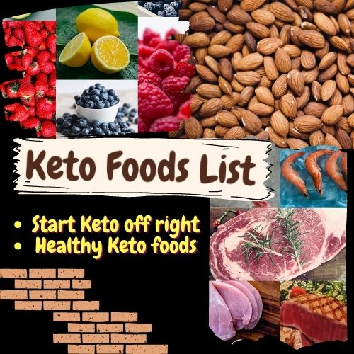 List of Keto approved foods